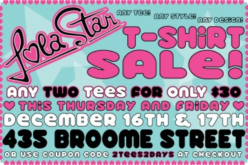 Lola Star Two Tees Two Days Sale!